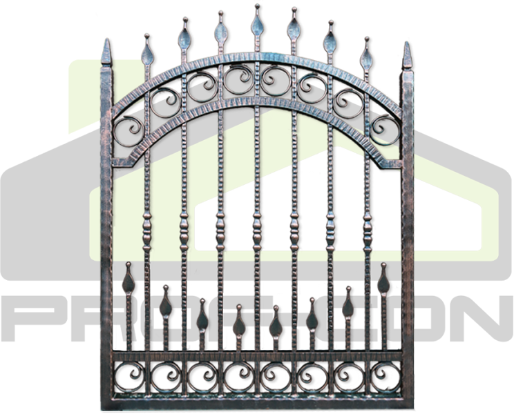 Wrought iron fence PF 001