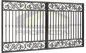 Wrought iron gates and fences PF 006