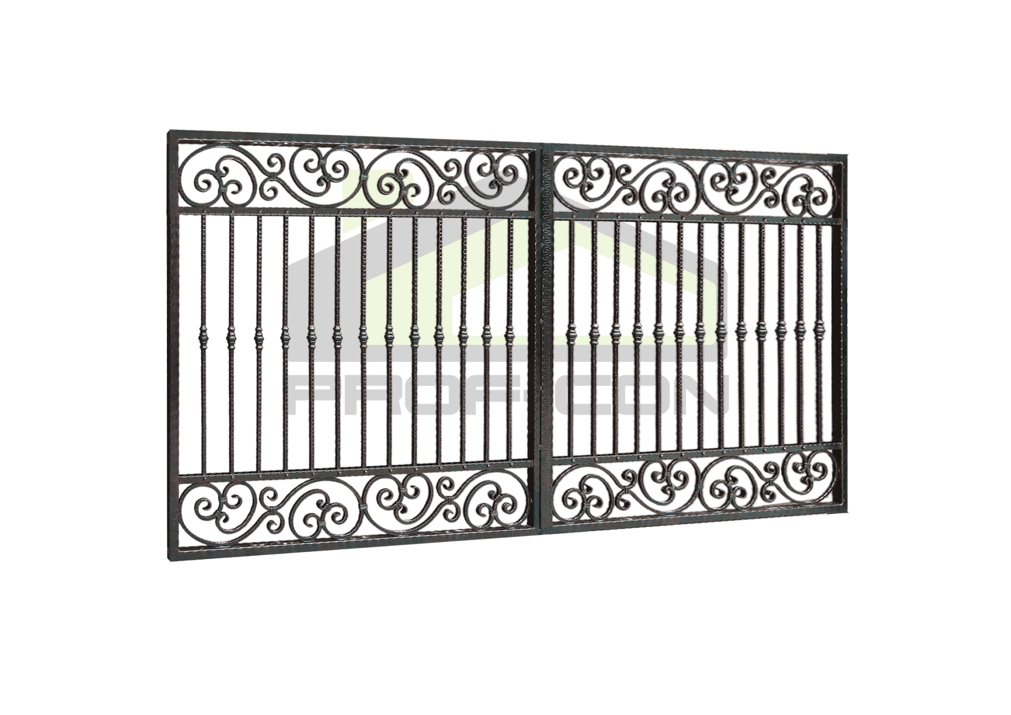 Wrought iron gates PF 006