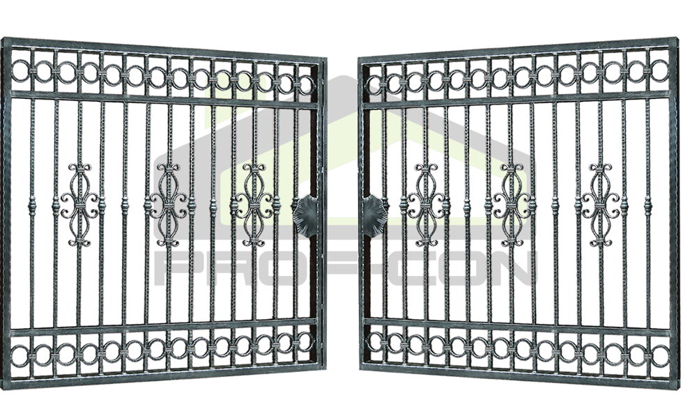 Wrought iron gate PF 008