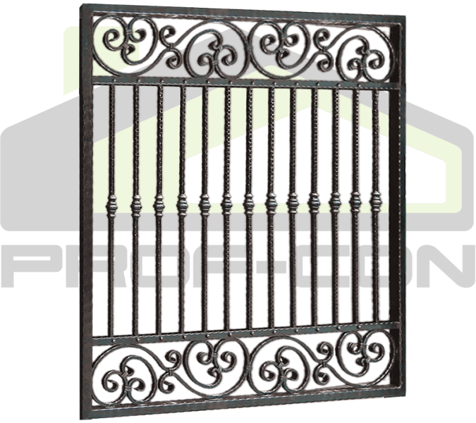 Wrought iron fence PF 006