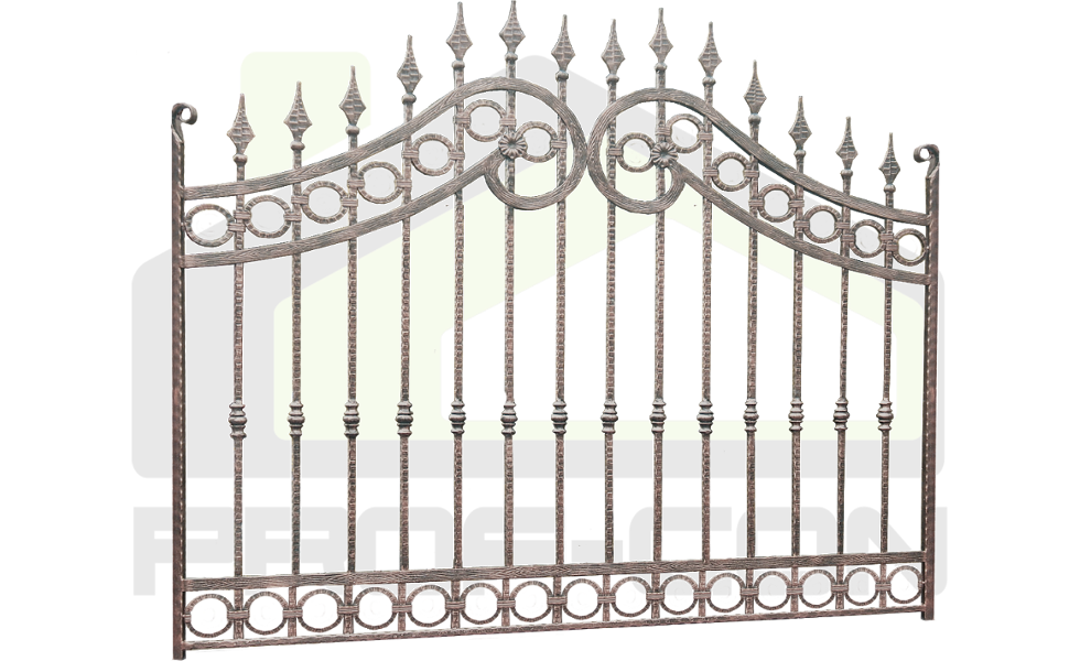 Wrought iron fence PF 009