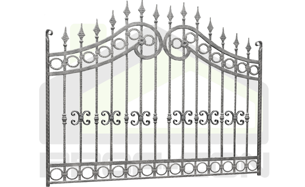 Forged wrought iron fences PF 010