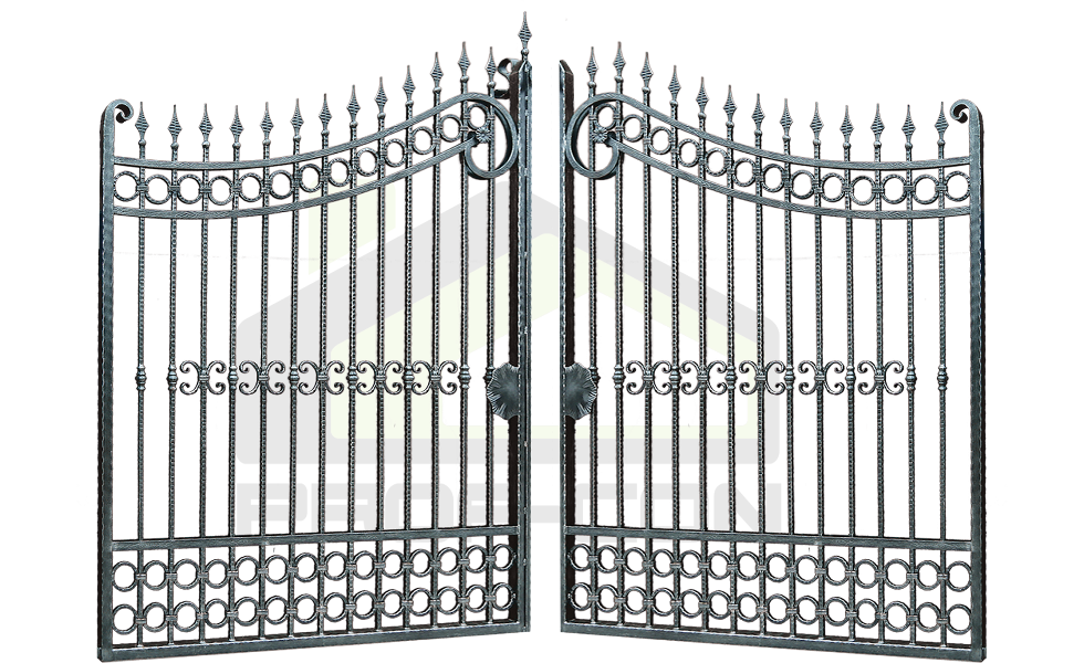 Forged wrought iron gates PF 010